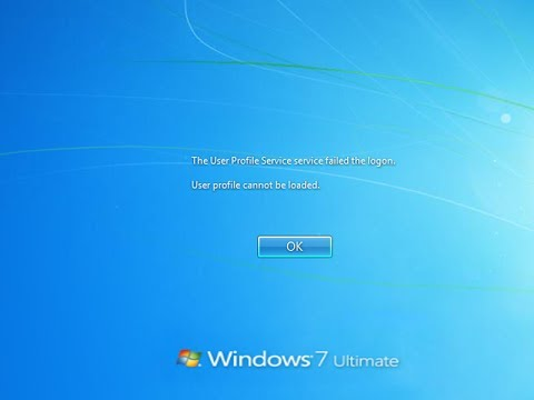 رفع مشکل The User Profile Service failed the logon در ویندوز